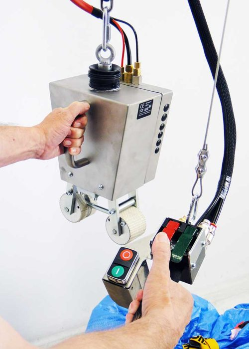 Mekanisk säcklyft med frihängande PSH-kontroll.