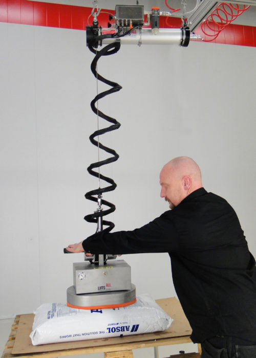 Vakuumsäcklyft med Bal-Trol och travers.