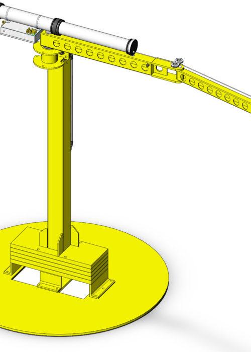 Komplett lyftsystem: FlexiCrane Mobile med integrerad Bal-Trol och en vakuumsäcklyft.
