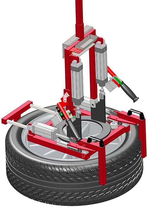 Wheel and tire gripper