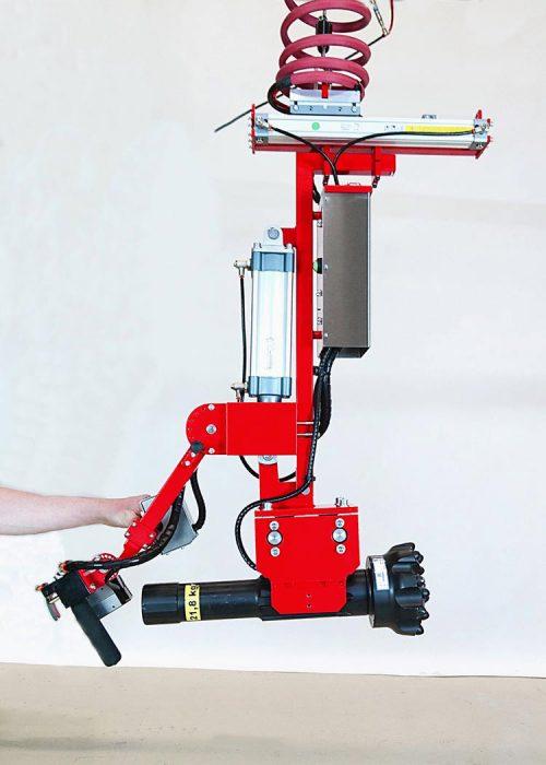 Drill bit gripper- bit in horizontal position