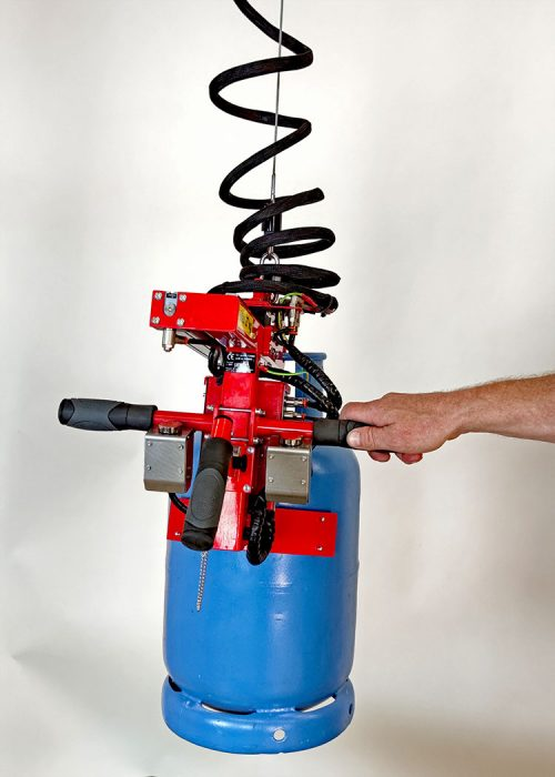 gas cylinder gripper with load